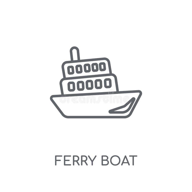 Icona lineare del traghetto Concetto moderno o di logo del traghetto del profilo royalty illustrazione gratis