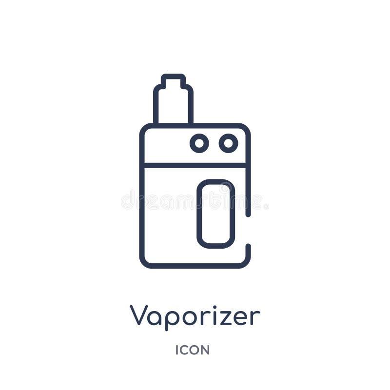 Icona lineare del vaporizzatore dalla raccolta del profilo degli apparecchi elettronici Linea sottile vettore del vaporizzatore i illustrazione vettoriale