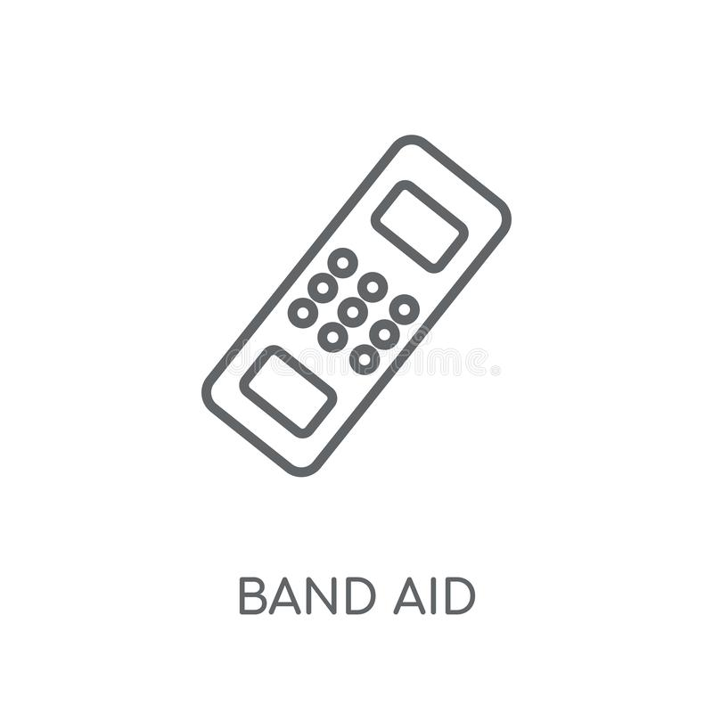 Icona lineare dell'aiuto di banda Concetto moderno di logo dell'aiuto di banda del profilo su wh royalty illustrazione gratis