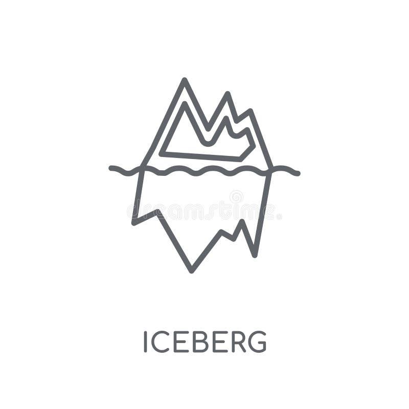Icona lineare dell'iceberg Concetto moderno di logo dell'iceberg del profilo su briciolo royalty illustrazione gratis