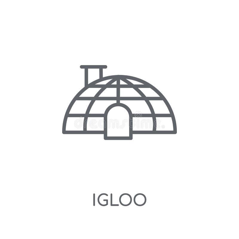 Icona lineare dell'iglù Concetto moderno di logo dell'iglù del profilo sulle sedere bianche royalty illustrazione gratis