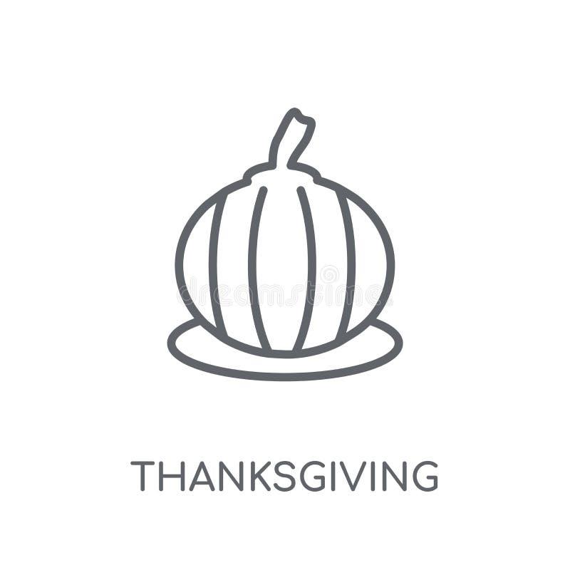 Icona lineare dell'ornamento di ringraziamento Ringraziamento moderno o del profilo illustrazione di stock