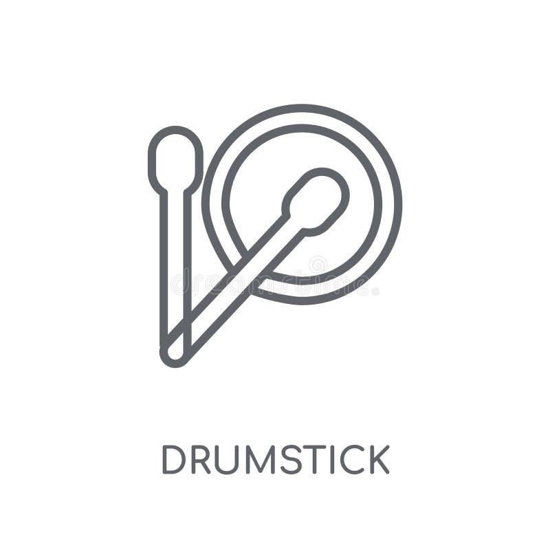 Icona lineare della bacchetta Concetto moderno di logo della bacchetta del profilo sopra illustrazione di stock