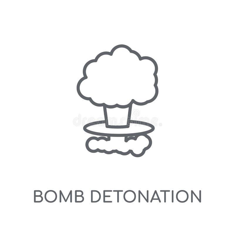 Icona lineare della detonazione della bomba Logo moderno della detonazione della bomba del profilo royalty illustrazione gratis