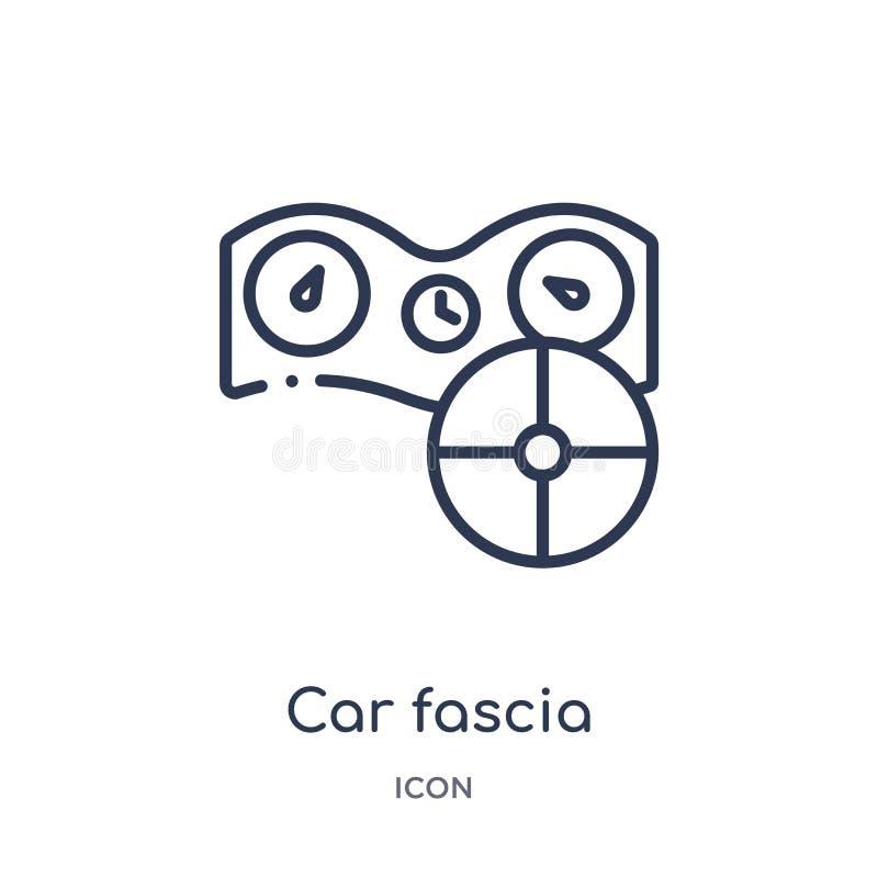 Icona lineare della fascia dell'automobile (britannici) dalla raccolta del profilo delle parti dell'automobile Linea sottile vett royalty illustrazione gratis