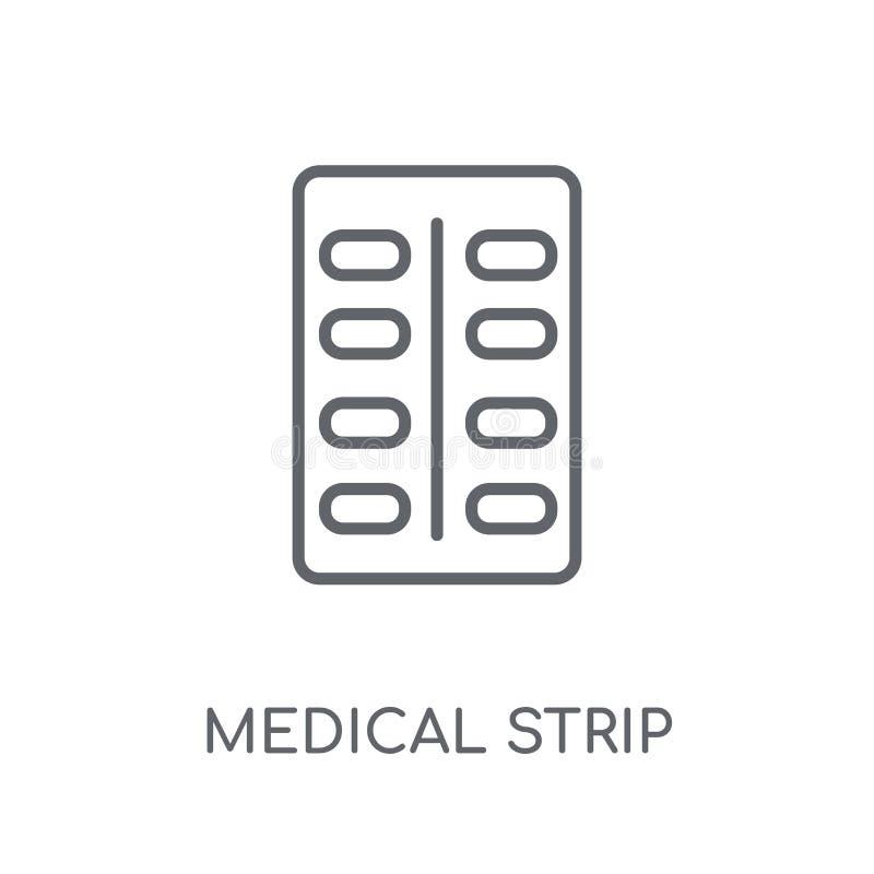 icona lineare della striscia medica Raggiro medico di logo della striscia del profilo moderno royalty illustrazione gratis