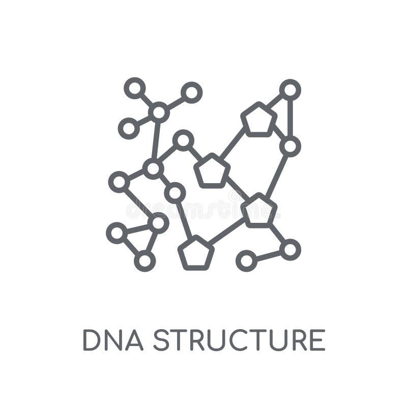 Icona lineare della struttura del DNA Raggiro moderno di logo della struttura del DNA del profilo illustrazione di stock