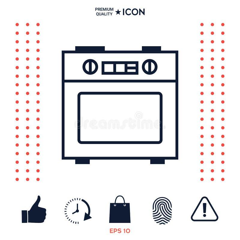 Download Icona Lineare Della Stufa Di Cucina Illustrazione Vettoriale - Illustrazione di caldo, domestico: 117975742