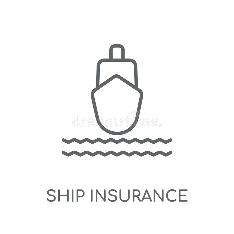Icona lineare di assicurazione della nave Logo moderno c di assicurazione della nave del profilo royalty illustrazione gratis