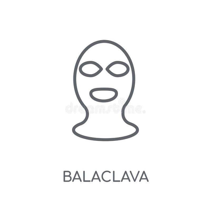 Icona lineare di Balaclava Concetto moderno di logo di Balaclava del profilo sopra illustrazione vettoriale