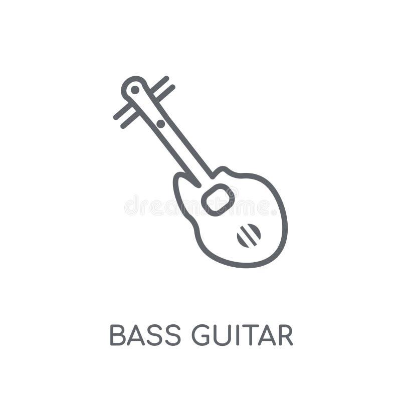 Icona lineare di Bass Guitar Concetto moderno di logo di Bass Guitar del profilo illustrazione di stock