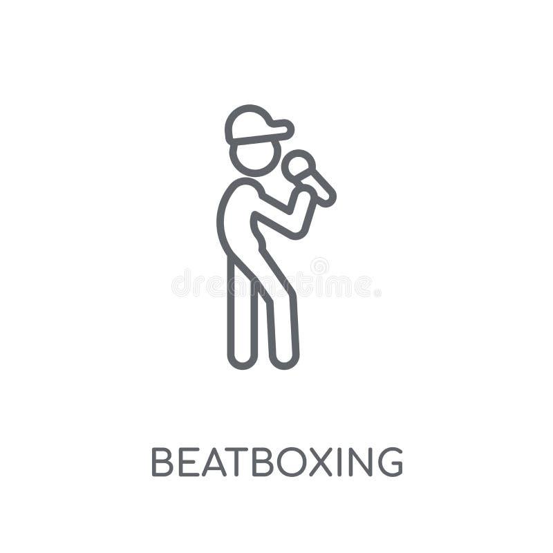 Icona lineare di Beatboxing Concetto moderno o di logo di Beatboxing del profilo illustrazione di stock