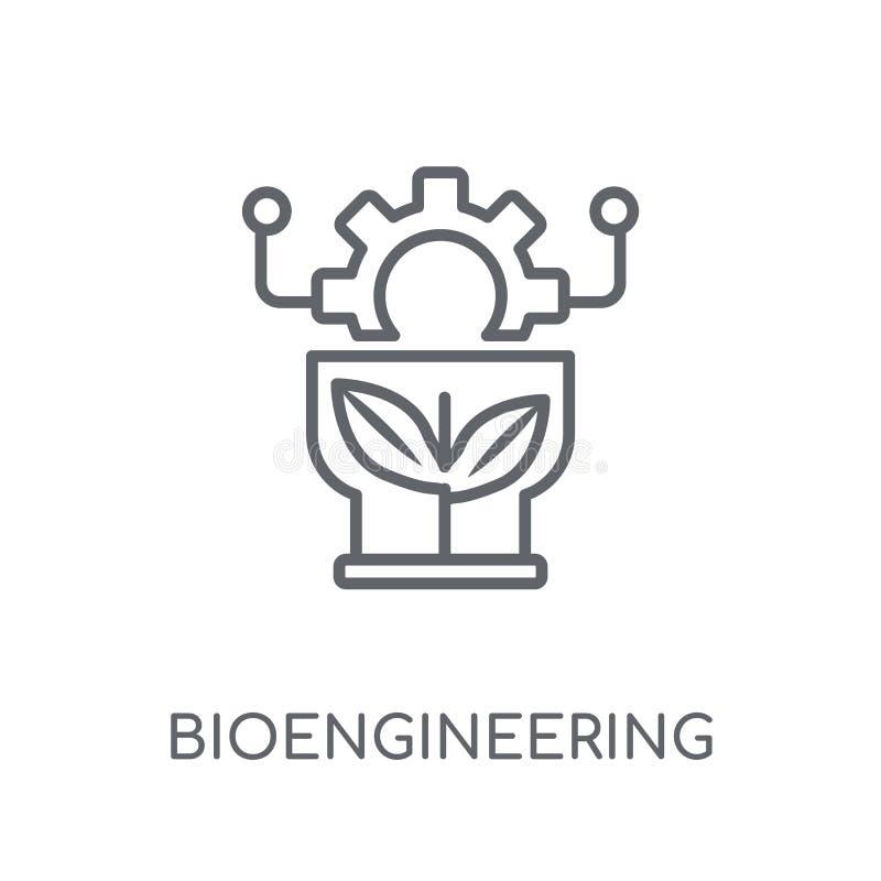 icona lineare di bioingegneria Logo moderno c di bioingegneria del profilo illustrazione vettoriale