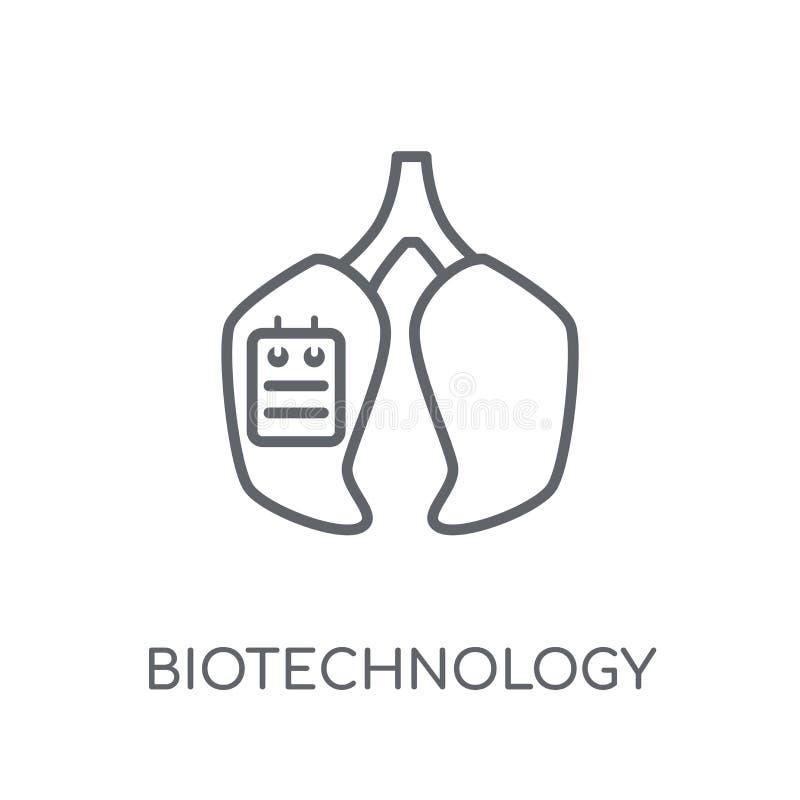 icona lineare di biotecnologia Raggiro moderno di logo di biotecnologia del profilo royalty illustrazione gratis