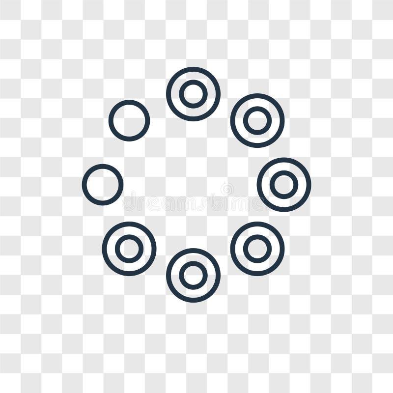 Icona lineare di carico di vettore di concetto isolata su backg trasparente royalty illustrazione gratis