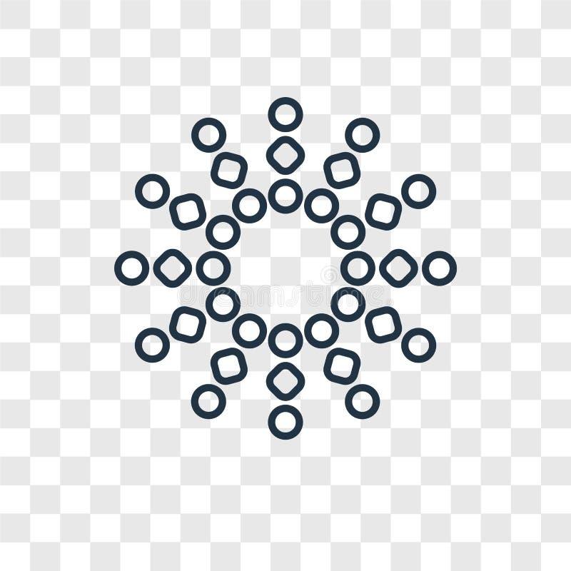 Icona lineare di carico di vettore di concetto isolata su backg trasparente illustrazione di stock