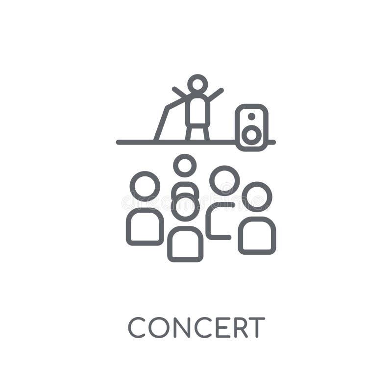 Icona lineare di concerto Concetto moderno di logo di concerto del profilo su briciolo illustrazione vettoriale
