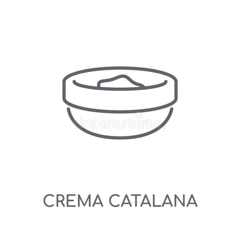 Icona lineare di Crema Catalana Logo moderno c di Crema Catalana del profilo royalty illustrazione gratis