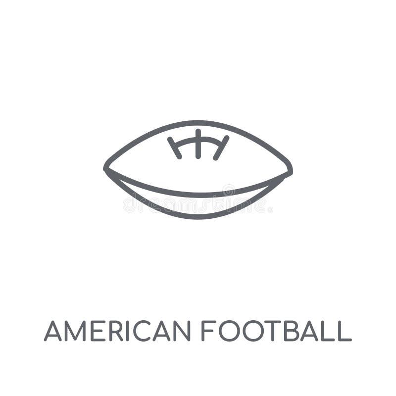 Icona lineare di football americano Football americano moderno del profilo illustrazione di stock