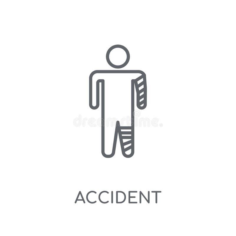 Icona lineare di incidente Concetto moderno di logo di incidente del profilo su wh royalty illustrazione gratis