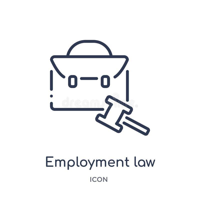 Icona lineare di legge di occupazione dalla raccolta del profilo della giustizia e di legge Linea sottile icona di legge di occup royalty illustrazione gratis