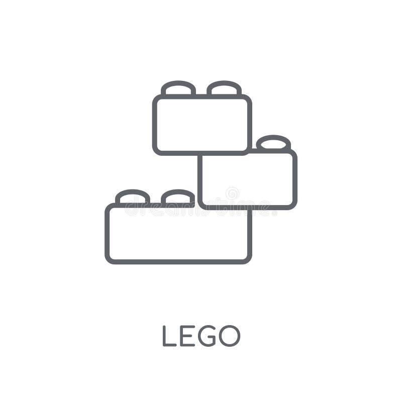 Icona lineare di Lego Concetto moderno di logo di Lego del profilo sulla parte posteriore bianca royalty illustrazione gratis