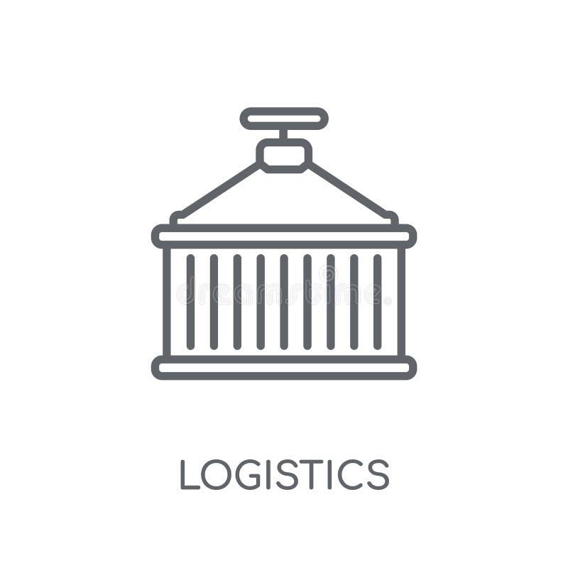 Icona lineare di logistica Concetto moderno di logo di logistica del profilo sopra royalty illustrazione gratis