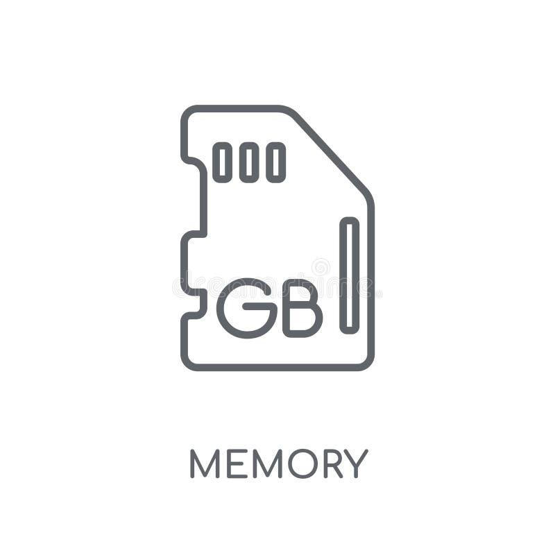 Icona lineare di memoria Concetto moderno di logo di memoria del profilo su bianco illustrazione di stock
