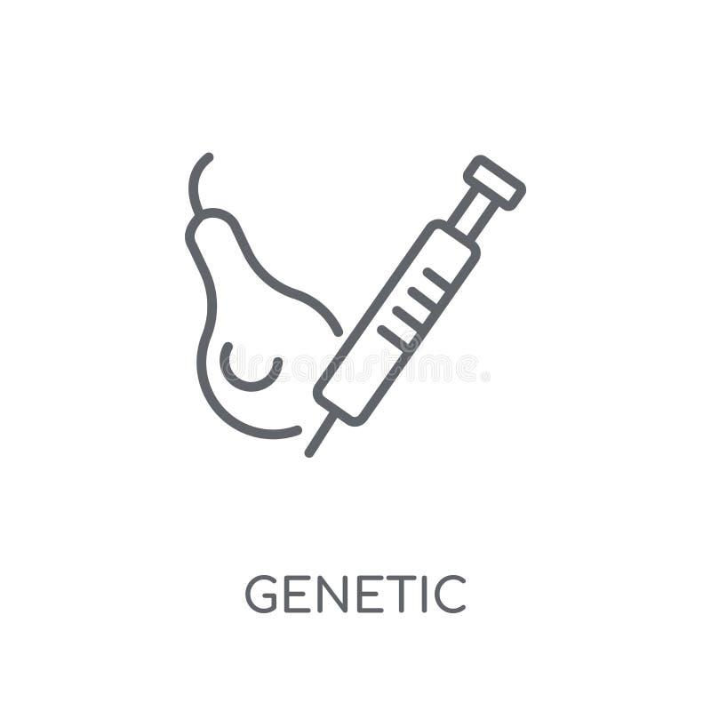 Icona lineare di modifica genetica Modific genetico del profilo moderno illustrazione di stock