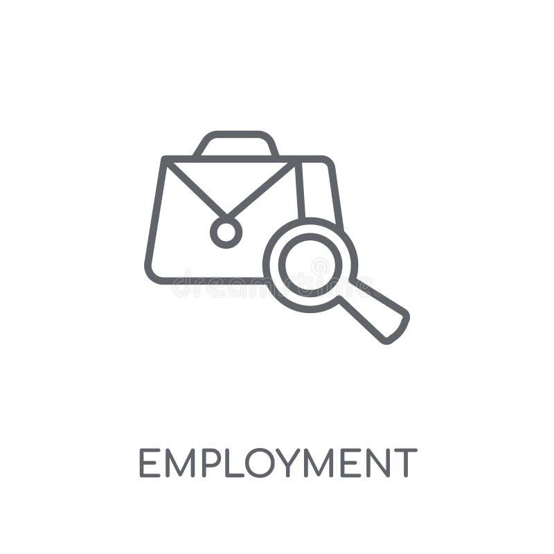 Icona lineare di occupazione Concetto moderno o di logo di occupazione del profilo illustrazione vettoriale