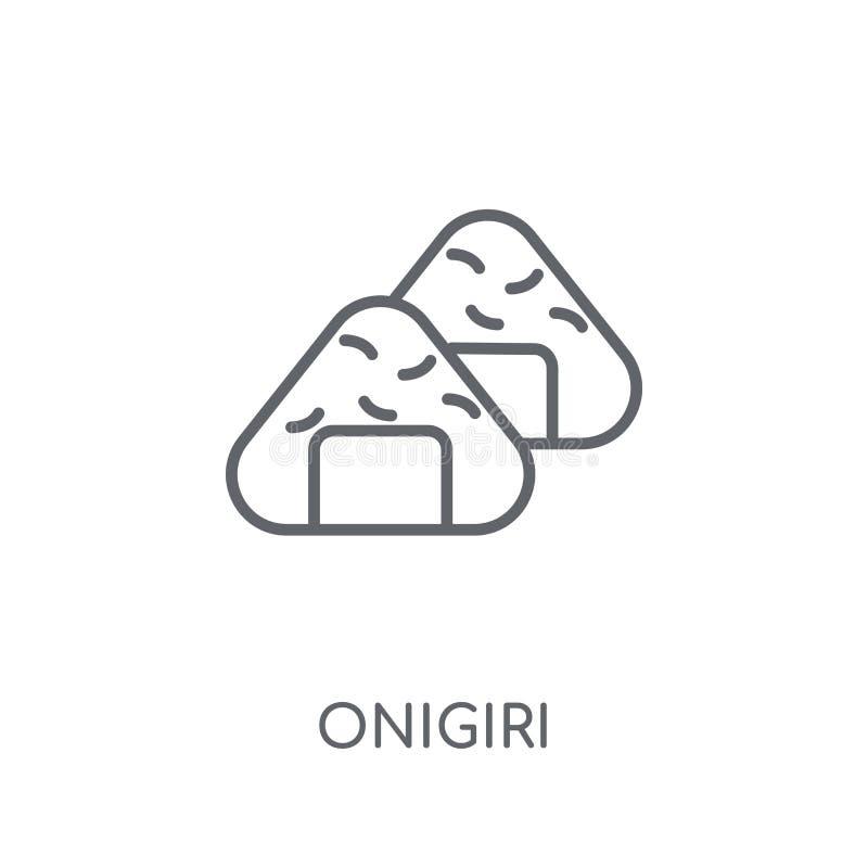 Icona lineare di Onigiri Concetto moderno di logo di Onigiri del profilo su briciolo illustrazione di stock
