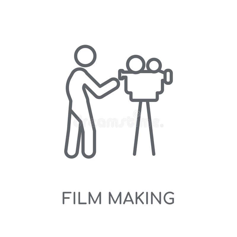 Icona lineare di produzione cinematografica Concetto moderno di logo di produzione cinematografica del profilo royalty illustrazione gratis