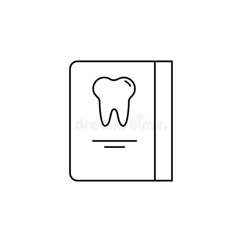 Icona lineare di programma di giorni di ricezione del dentista Illustrazione al tratto sottile Registi la pagina con il dente uma royalty illustrazione gratis