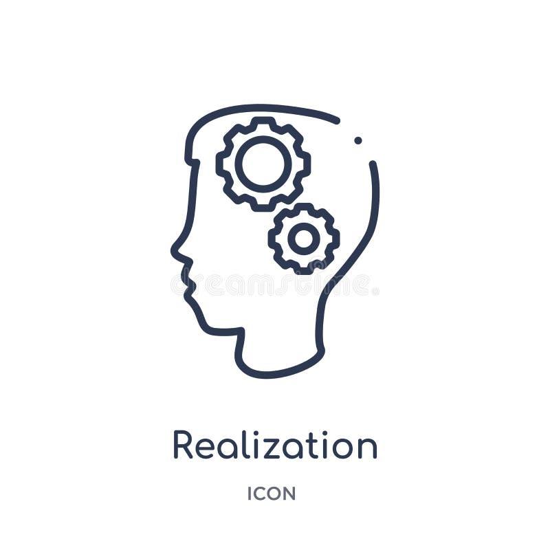 Icona lineare di realizzazione dalla raccolta del profilo generale Linea sottile icona di realizzazione isolata su fondo bianco r illustrazione vettoriale