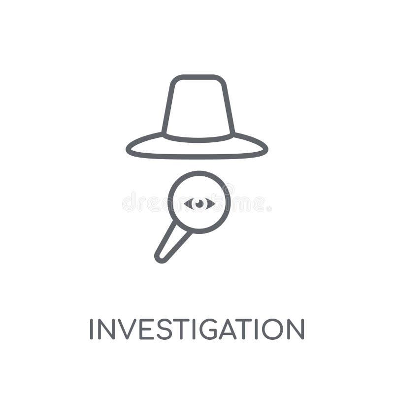 Icona lineare di ricerca Raggiro moderno di logo di ricerca del profilo illustrazione di stock