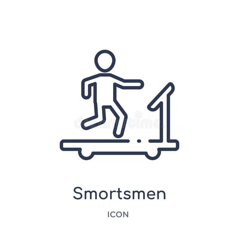 Icona lineare di smortsmen dalla raccolta del profilo degli esseri umani Linea sottile icona di smortsmen isolata su fondo bianco illustrazione di stock