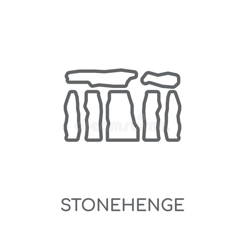 Icona lineare di Stonehenge Concetto moderno o di logo di Stonehenge del profilo illustrazione di stock