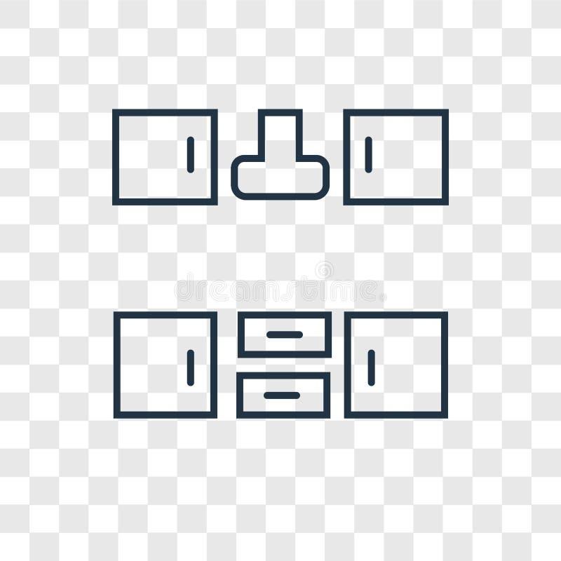 Icona lineare di vettore di concetto del Governo isolata su backg trasparente royalty illustrazione gratis
