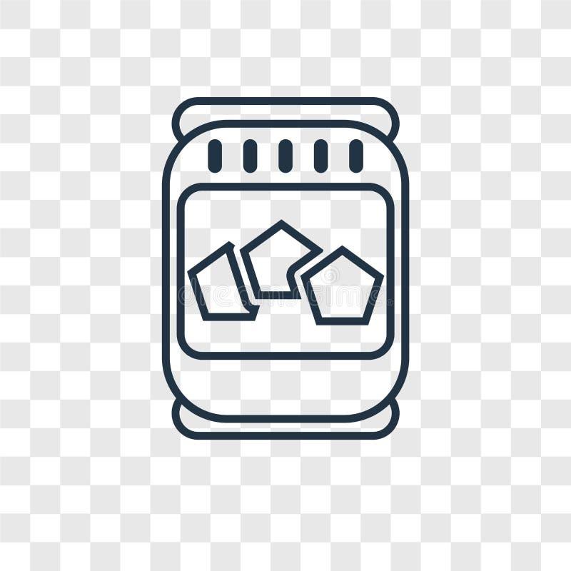 Icona lineare di vettore di concetto del miele isolata sul backgro trasparente illustrazione di stock