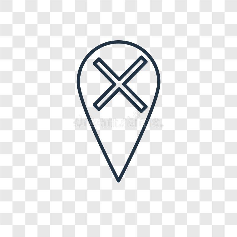 Icona lineare di vettore di concetto del segnaposto isolata sulla b trasparente royalty illustrazione gratis
