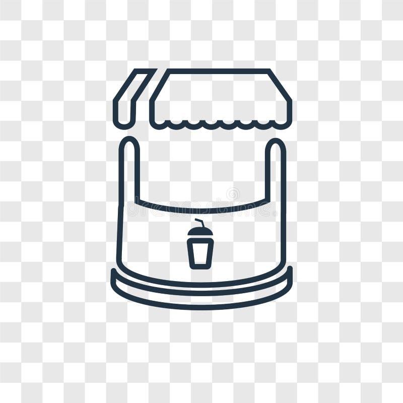 Icona lineare di vettore di concetto del supporto isolata sul backgro trasparente illustrazione di stock