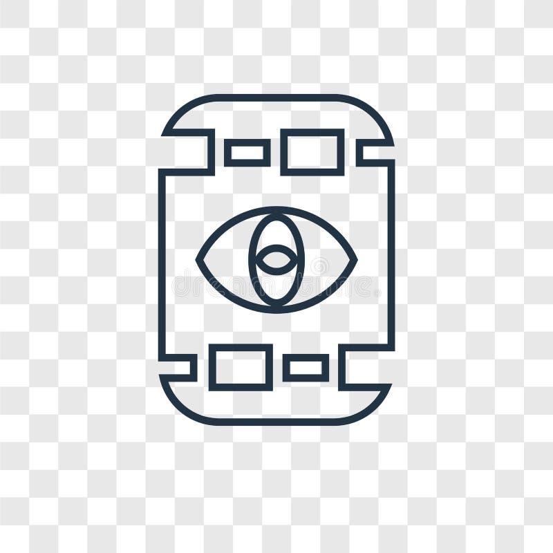 Icona lineare di vettore di concetto dell'Egitto isolata sul backgro trasparente illustrazione di stock