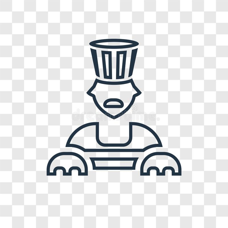 Icona lineare di vettore di concetto della Sfinge isolata su backgr trasparente royalty illustrazione gratis