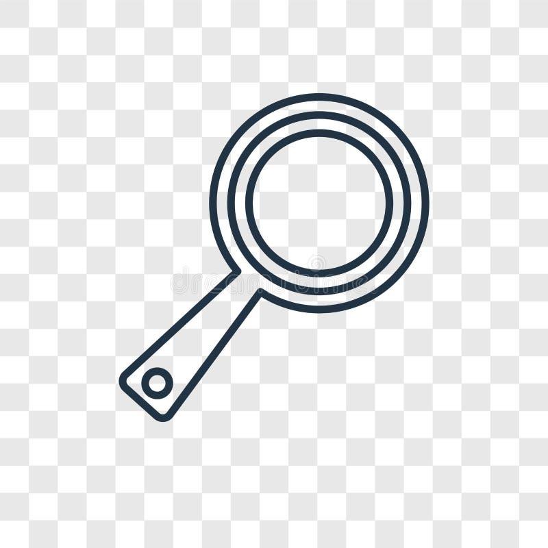 Icona lineare di vettore di concetto della trasparenza isolata su trasparente royalty illustrazione gratis