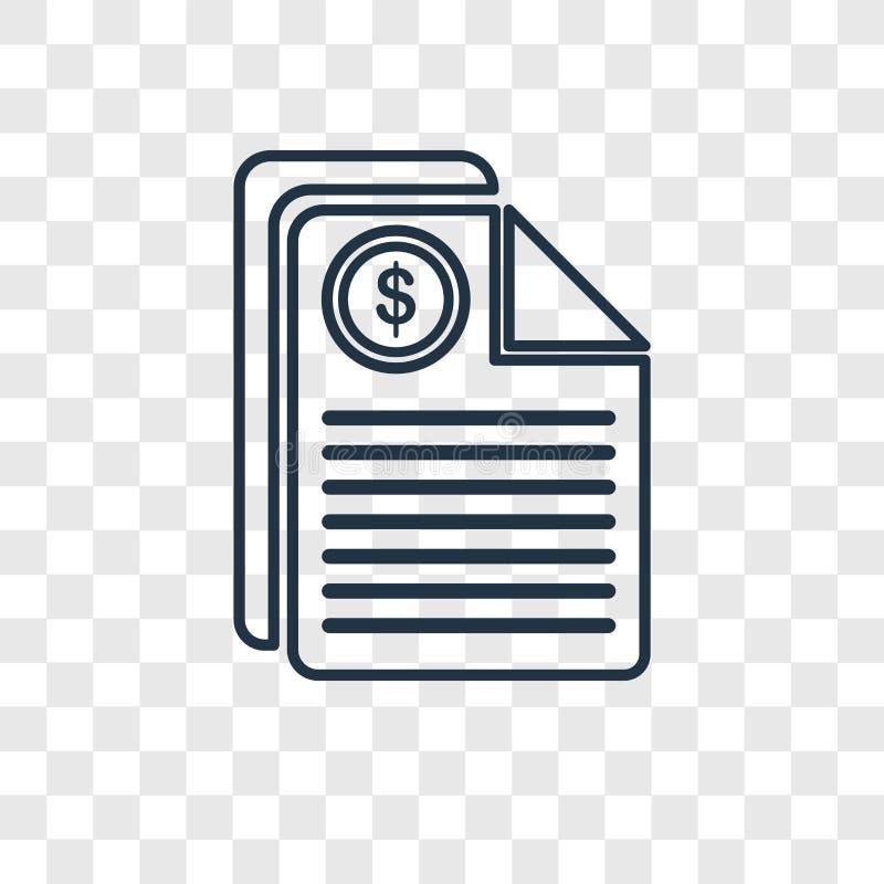 Icona lineare di vettore di concetto di imposte isolata sul backgro trasparente royalty illustrazione gratis