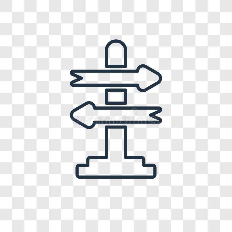 Icona lineare di vettore decisionale di concetto isolata su transpare royalty illustrazione gratis