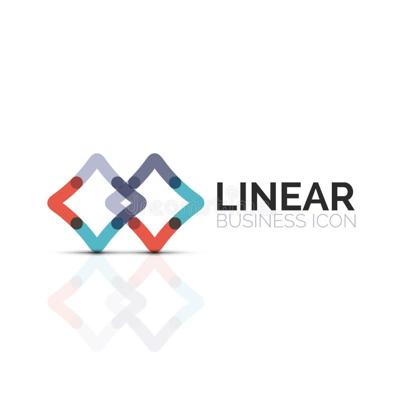 Icona lineare minimalistic astratta della stella o del fiore, linea sottile simbolo piano geometrico per progettazione dell'icona royalty illustrazione gratis