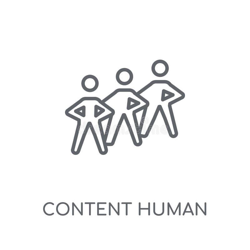 icona lineare umana del contenuto Raggiro umano di logo del contenuto moderno del profilo illustrazione di stock