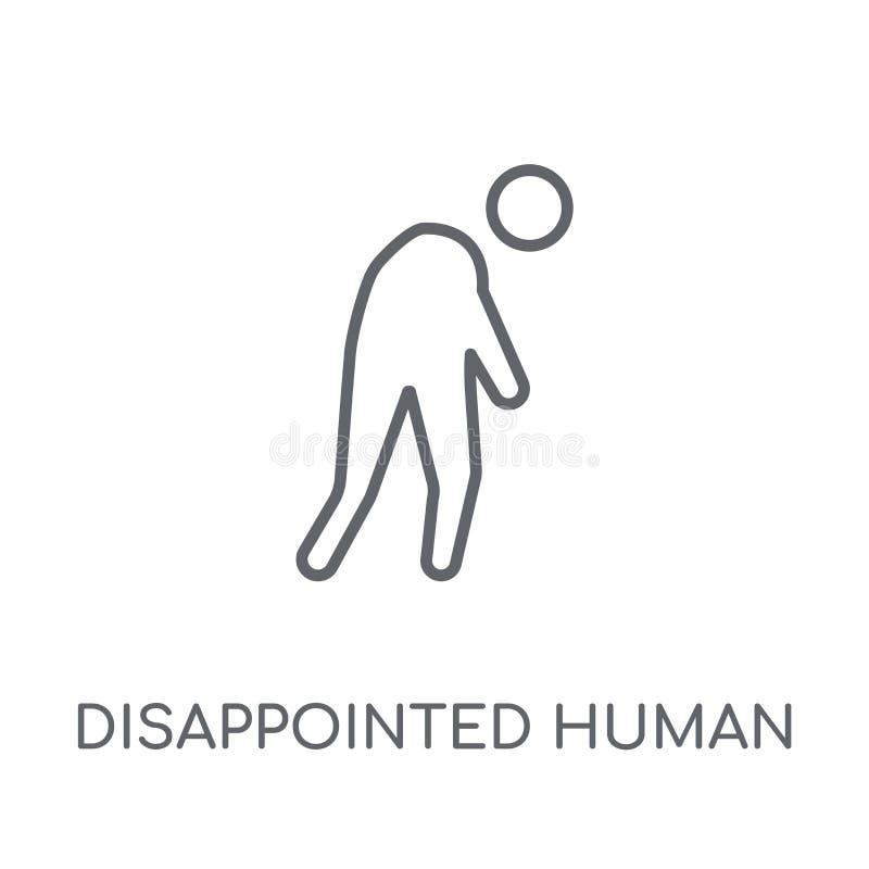 icona lineare umana deludente Huma deludente del profilo moderno royalty illustrazione gratis