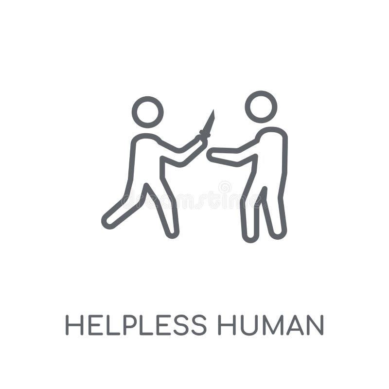 icona lineare umana impotente Logo umano impotente c del profilo moderno illustrazione di stock